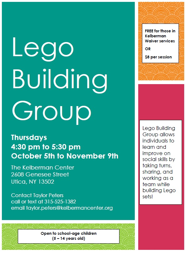 Lego Building Group - The Kelberman Center