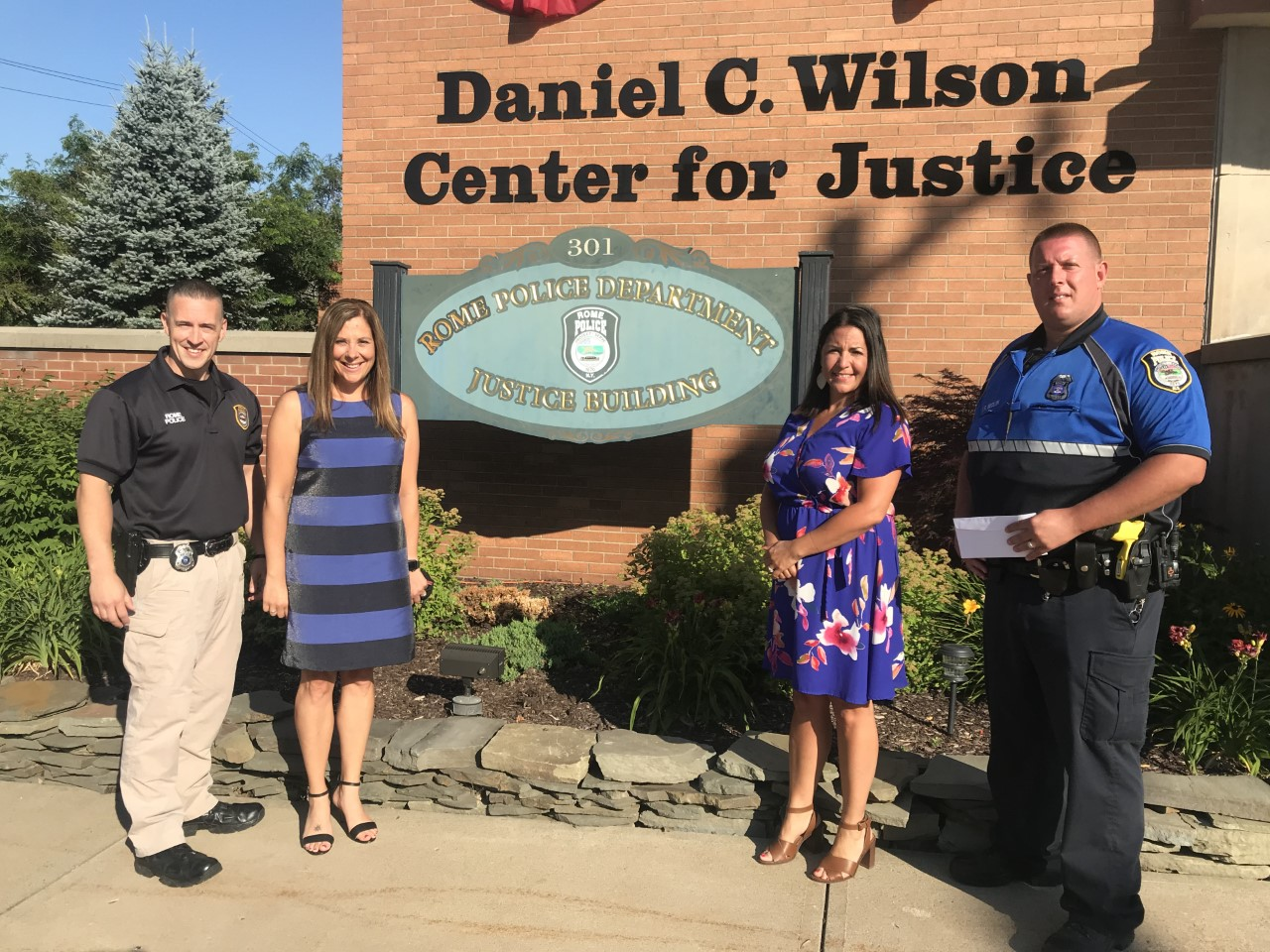 Officer Tom Medlin and Rome Police Department  Support The Kelberman Center