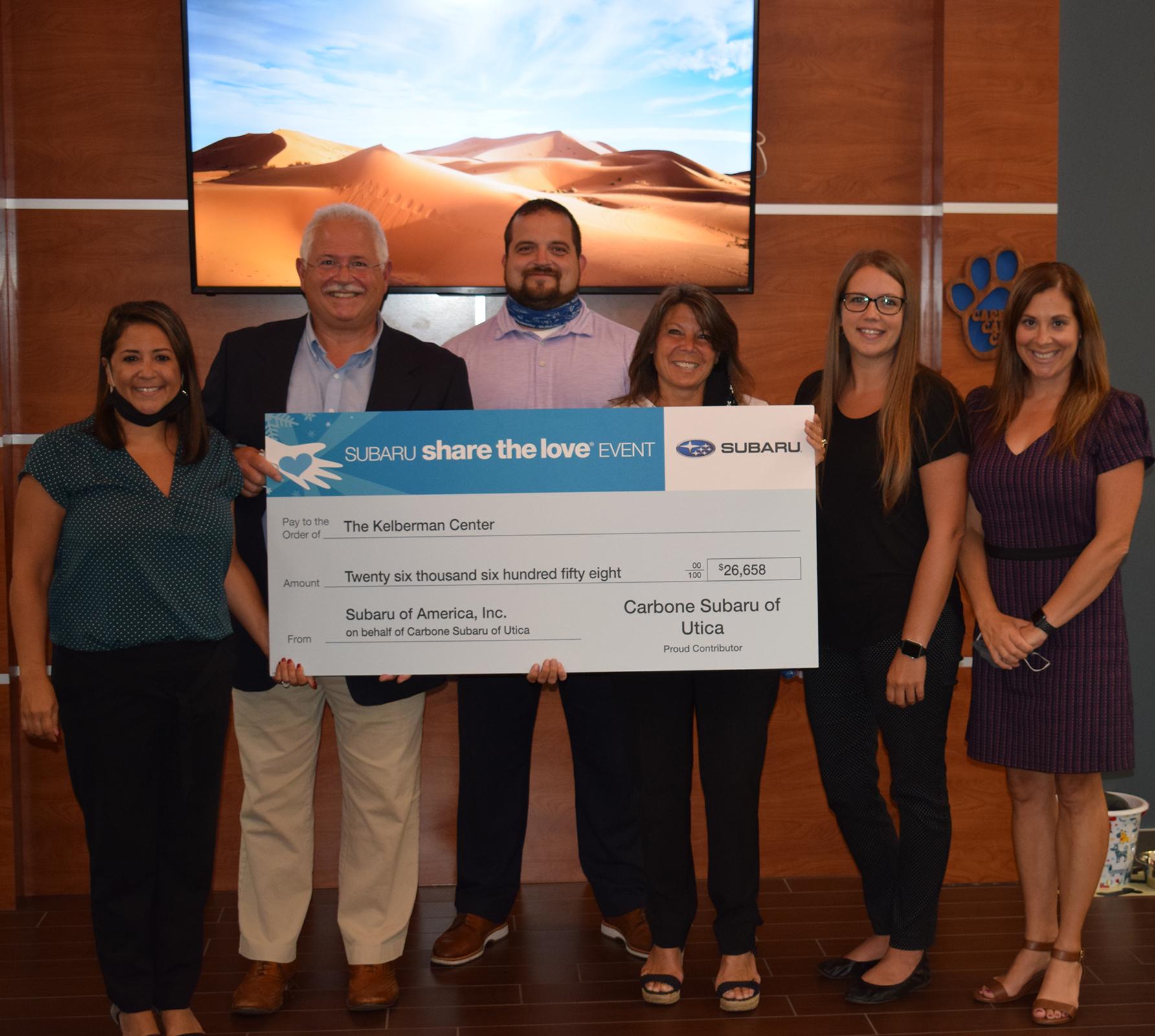 Subaru and Carbone Auto Group Donate to the Kelberman Center
